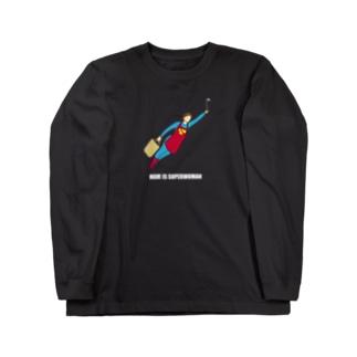 スーパーウーママン Long sleeve T-shirts