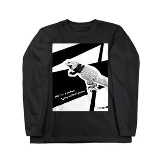 サンエステバントゲオイグアナ黒基調グッズ Long sleeve T-shirts