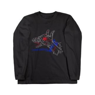 テアソビ犬ロングスリーブTシャツ(3色ver.) Long sleeve T-shirts