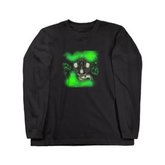 骨狼Green Long sleeve T-shirts