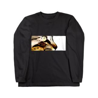 トラ猫の横顔 Long sleeve T-shirts
