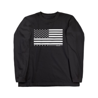 dacci 星条旗(白) Long sleeve T-shirts