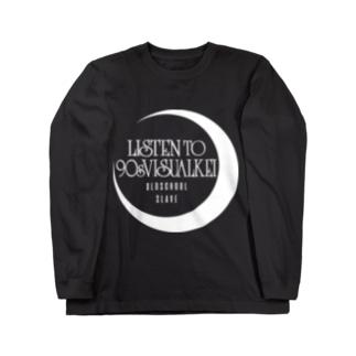 90年代V系インスパイアグッズ・・・月と海・・・† Long sleeve T-shirts