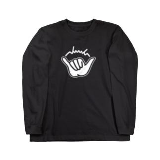 dacci シャカサイン(白) Long sleeve T-shirts