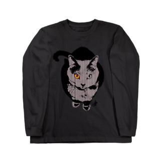 灰色の猫 Long Sleeve T-Shirt