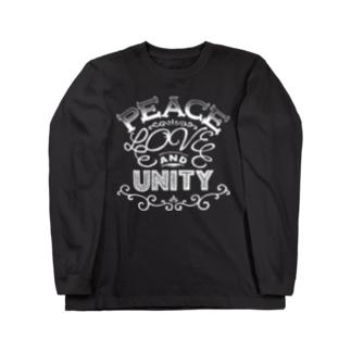 PEACE, LOVE & UNITY【濃色ベース】 Long sleeve T-shirts