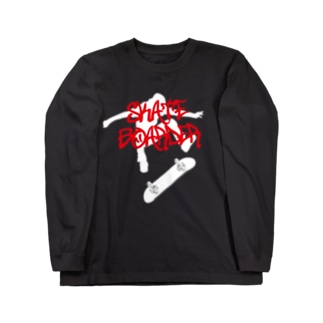 DRIPPEDのSKATEBOARDER-スケートボーダー-白ロゴ Long sleeve T-shirts