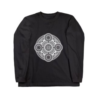 魔法陣#001白字 Long sleeve T-shirts