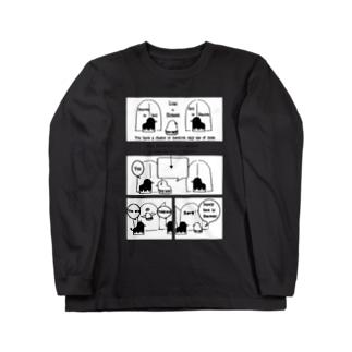 ピヨコミ『天国の扉はどっち?』 Long sleeve T-shirts