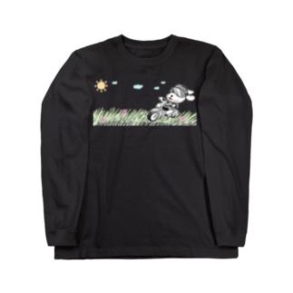 カラーちょこバイク Long sleeve T-shirts