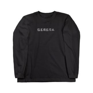 GEMENI-15[KANJI](B) Long sleeve T-shirts