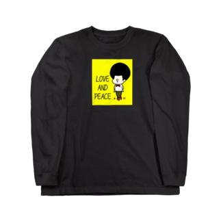 Kana's yururi ギャラリーのらぶあんどぴーす! Long sleeve T-shirts