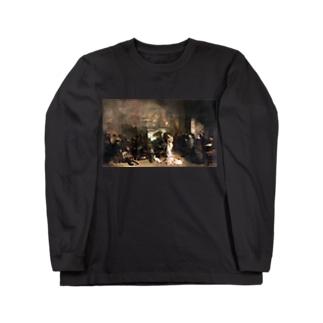 ギュスターヴ・クールベ(画家のアトリエ)のグッズ Long sleeve T-shirts