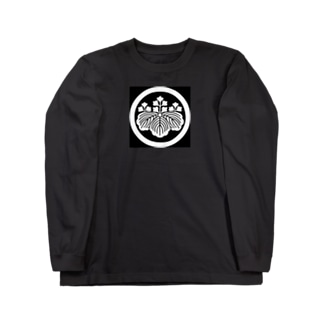 丸に五三桐 Long sleeve T-shirts