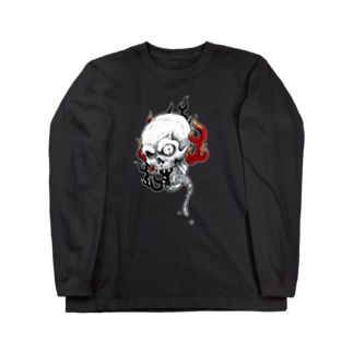 火炎髑髏 Long sleeve T-shirts