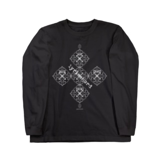 lyricchordシード白ライン/ドローイングアート Long Sleeve T-Shirt