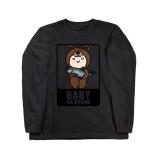 BABY on Board (くま) Long sleeve T-shirts