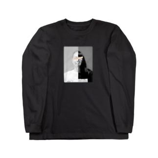 「金属バット half」ロンT Long Sleeve T-Shirt