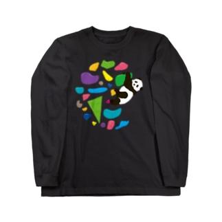 GO CLIMB PANDA Long sleeve T-shirts