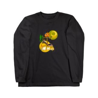 いたずらパンプキンプリン Long sleeve T-shirts