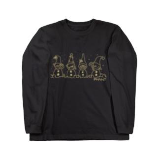 雪だるま/オーカー Long Sleeve T-Shirt