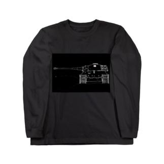 王虎(フレーム) Long sleeve T-shirts