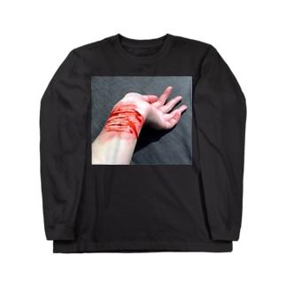 リストカット Long sleeve T-shirts