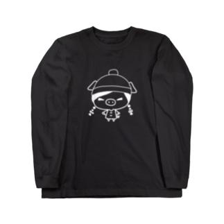 ブタちゃん Long sleeve T-shirts