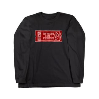 恐竜時代タイムマシンチケット〜白亜紀行き〜 RED Long sleeve T-shirts