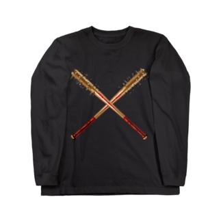 釘バット Long sleeve T-shirts