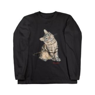 きなこのキジネコ Long sleeve T-shirts