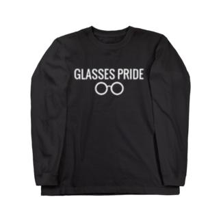 黒GLASSES PRIDE Long sleeve T-shirts