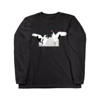 丹頂の舞 Long sleeve T-shirts