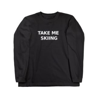 TAKE ME SKIING white Long sleeve T-shirts