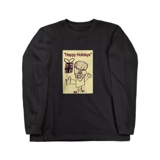 おばけ君のプレゼント Long sleeve T-shirts