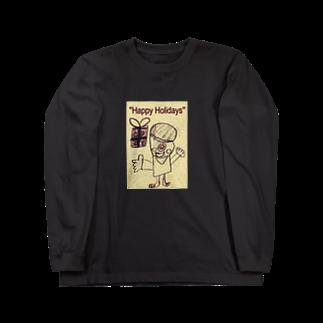 kityiのおばけ君のプレゼント Long sleeve T-shirts