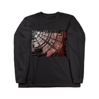 Cyber red hole Long sleeve T-shirts