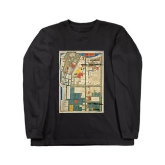 本所深川絵図 Long sleeve T-shirts