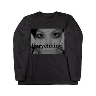 [Strychnine] zAkro フォトカード柄~弐~(モノクロ) Long sleeve T-shirts