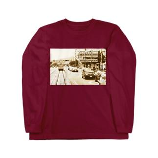 愛媛県:松山市駅前通 Ehime: JR station & streetcar in Matsuyama Long sleeve T-shirts