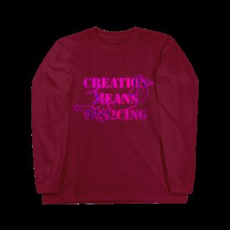 Kazumichi Otsubo's Souvenir departmentのAngel message ~ Creative means... Long sleeve T-shirts