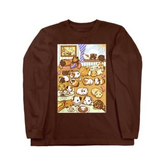 モルモットパラダイスカフェ ロングスリーブTシャツ