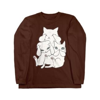 3にゃい ロングスリーブTシャツ
