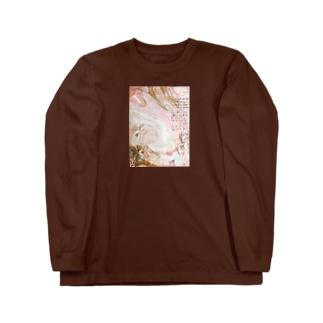 マーブルプラス☆ピンク Long sleeve T-shirts