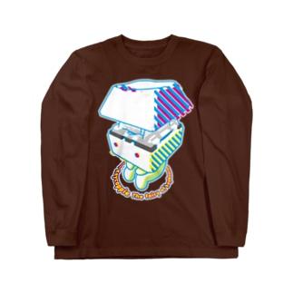 お座りキーキャッピー Long sleeve T-shirts