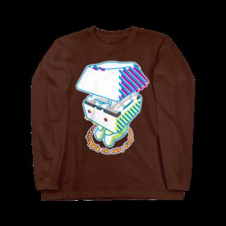 Romlyのお座りキーキャッピー Long sleeve T-shirts