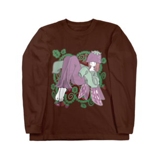 Yum!Yum!BEADSのピクシーいちごちゃん Long sleeve T-shirts