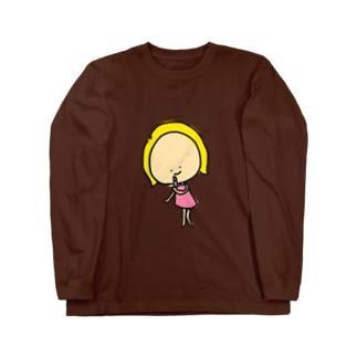 お化粧キャシー Long sleeve T-shirts