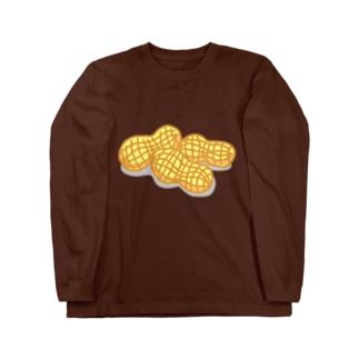 ほぼピーナツ Long sleeve T-shirts