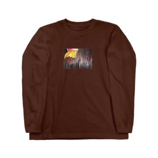 orange  chocolate Burgundy Long sleeve T-shirts